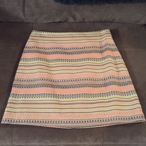 Tribal stripe A-line skirt